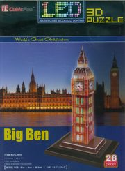 Puzzle 3D Led Zegar Big Ben,