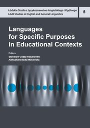 Languages for Specific Purposes in Educational Contexts,