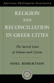 ksiazka tytuł: RELIGION & RECONCILIATION GREEK CITIES C autor: Robertson