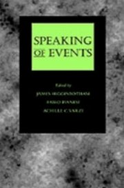 ksiazka tytuł: Speaking of Events autor: HIGGINBOTHAM JAMES