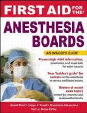 ksiazka tytuł: First Aid for the Anesthesiology Boards autor: Himani Bhatt, Dominique Jean, Karlyn Powell