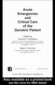 ksiazka tytuł: Acute Emergencies and Critical Care of the Geriatric Patient autor: