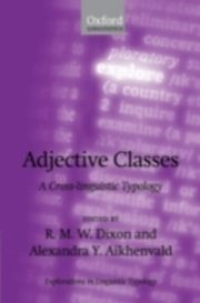 ksiazka tytuł: Adjective Classes A Cross-linguistic Typology autor: DIXON R.M.W